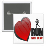 RUN WITH HEART PRODUCTS 15 CM SQUARE BADGE