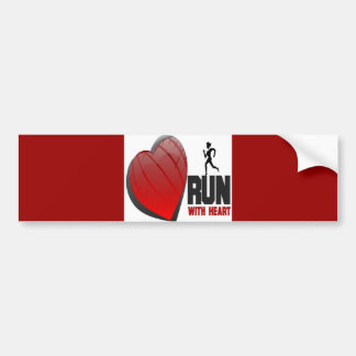 RUN WITH HEART PRODUCTS BUMPER STICKER