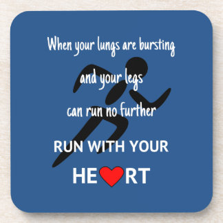 Run with heart sports motivation coaster