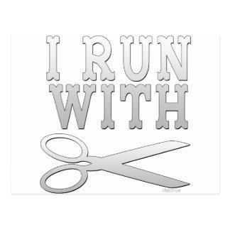 Run with Scissors Post Card