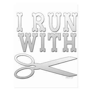 Run with Scissors Postcards