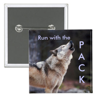Run with the Pack 15 Cm Square Badge