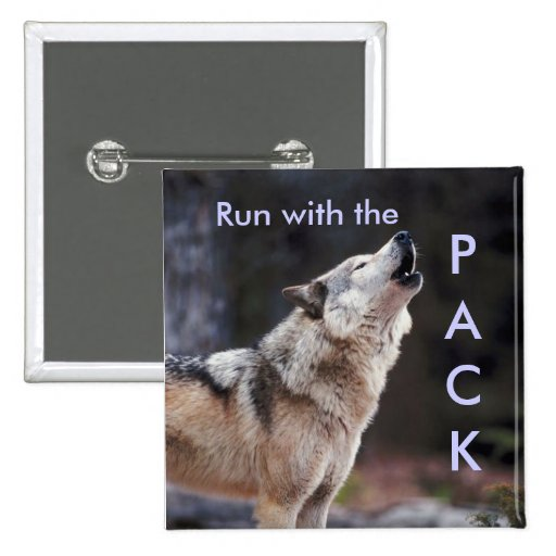 Run with the Pack Pinback Buttons