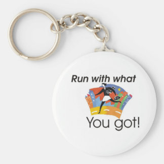Run with what you got key ring