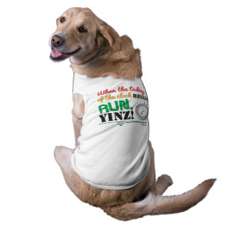 Run, Yinz! Marathon Pet Design Sleeveless Dog Shirt