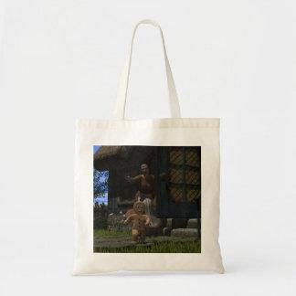Runaway Gingerbread Man Canvas Bag