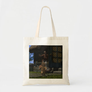Runaway Gingerbread Man Budget Tote Bag