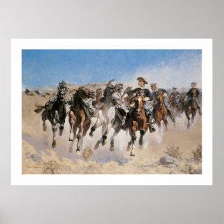 Runaway Horses Art Print Poster