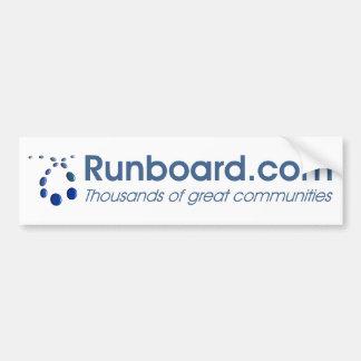 Runboard com Bumper Sticker