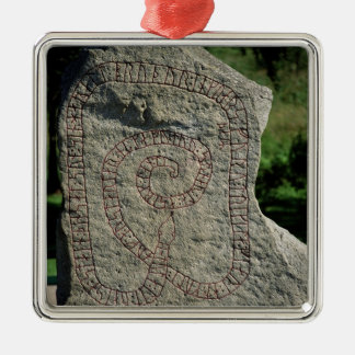 Rune stone outside Gripsholm Castle Christmas Ornament