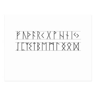 Runes Elder Futhark Postcard