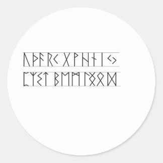 Runes Elder Futhark Round Sticker