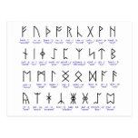 Runic Alphabet Postcards