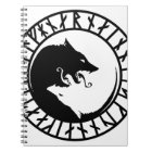 Runic Dire Wolf viking norse nordic runes Notebook