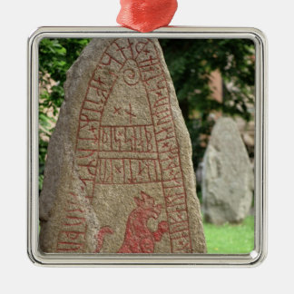 Runic stone christmas ornament