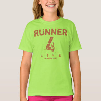 Runner 4 Life - Pink And Lime Green T-Shirt