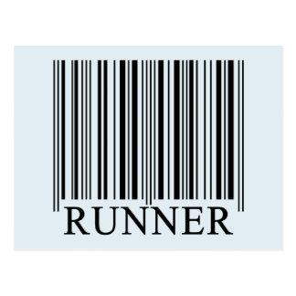 Runner Barcode Postcard