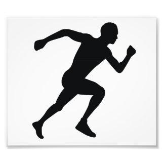 Runner Black Silhouette Shadow Photo Art