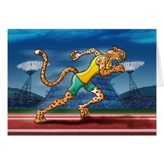 Runner Cheetah Greeting Cards
