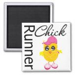 Runner Chick Magnets