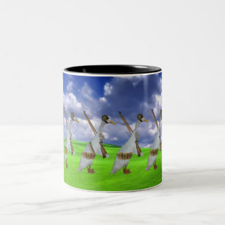 Runner duck army coffee mugs