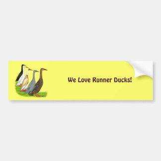 Runner Duck Assortment Bumper Sticker