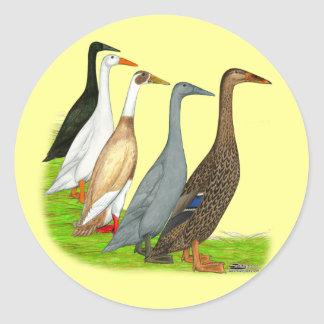 Runner Duck Assortment Classic Round Sticker