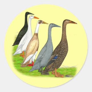 Runner Duck Assortment Round Sticker