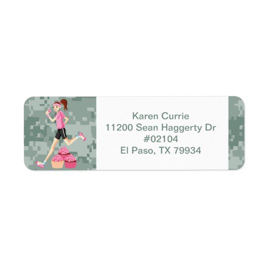 Runner Girl with Cupcakes Labels