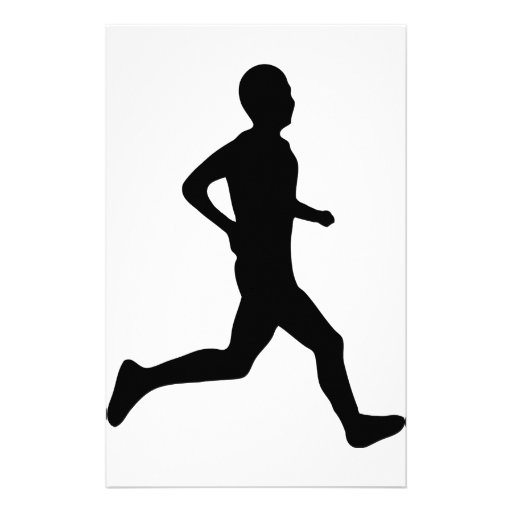 runner icon personalized stationery | Zazzle: zazzle.co.uk/runner_icon_personalized_stationery-229254592980212541