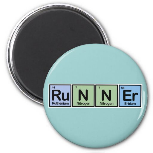 Runner made of Elements 6 Cm Round Magnet