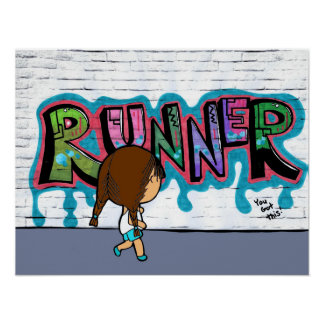 """Runner on the Streets"" Poster"
