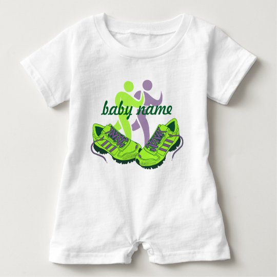 Runner Personalised Name Baby Bodysuit