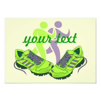 Runner Personalized 13 Cm X 18 Cm Invitation Card