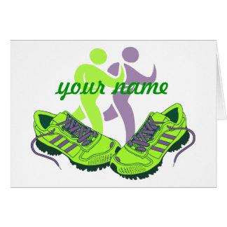 Runner Personalized Note Card