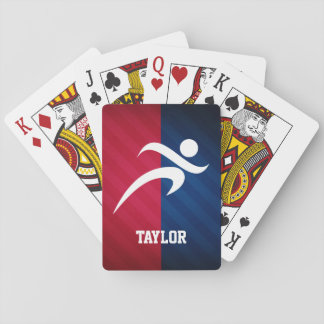 Runner; Red, White, and Blue Playing Cards