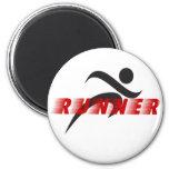 Runner refrigerator magnet