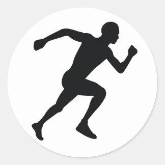 Runner Round Sticker