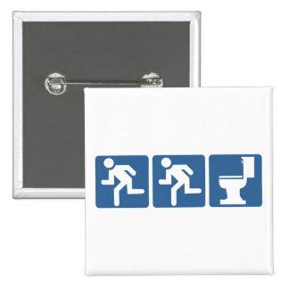 Runner-Runner Flush 15 Cm Square Badge