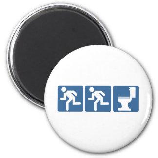 Runner-Runner Flush 6 Cm Round Magnet