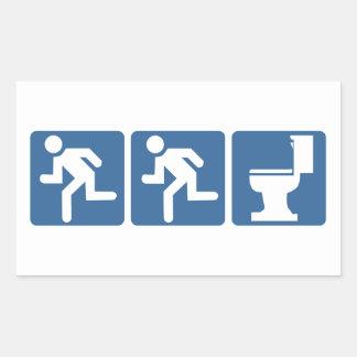 Runner-Runner Flush Rectangular Sticker