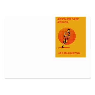 Runner Running Marathon Poster Business Cards