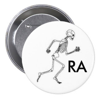 Runners Anonymous Running Skeleton Button