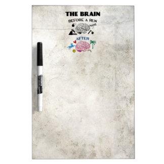 Runners Brain Dry Erase Board