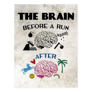 Runners Brain Postcard