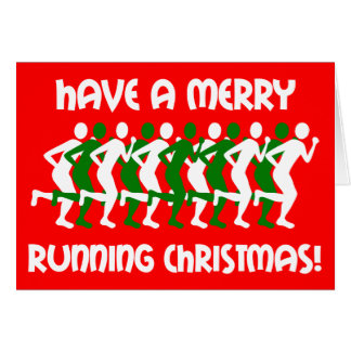 runners Christmas Card