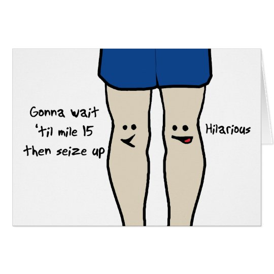 Runners Knees Card