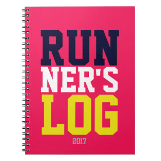 Runner's Log Pink Colorful 2017 Running Training Notebook