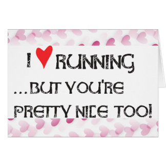 Runner's Valentine Day Card I heart (love) Running