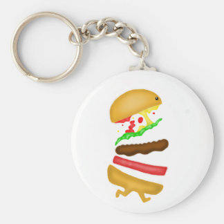 Runnin burger key ring
